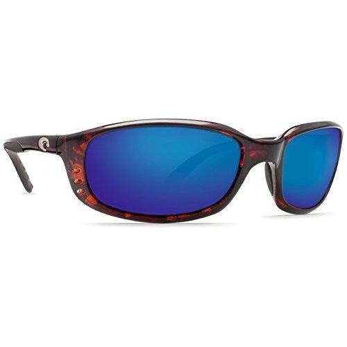 Costa Del Mar Brine C-Mate 2.00 Sunglasses, Tortoise, Blue Mirror 580P Lens
