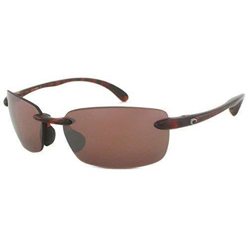 Costa del Mar BA 10 OSCP 59.6 mm Unisex-Adult Ballast Polarized Iridium Rimless Sunglasses, Tortoise Frame