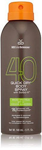 MDSolarSciences Quick Dry Body Spray Broad Spectrum SPF 40
