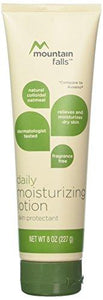 Mountain Falls Daily Moisturizing Lotion Skin Protectant with Natural Colloidal Oatmeal, Fragrance Free, Compare to Aveeno, 8 Ounce