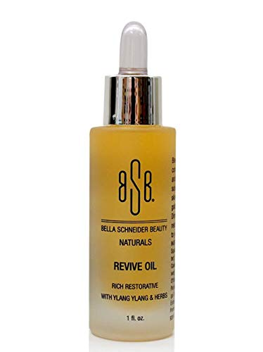 Bella Schneider Beauty Naturals Revive Oil With Ylang Ylang & Herbs - Skin Oil for Face, Body, Dry Skin - Nourishing, hydrating, promotes skin elasticity and stronger fresher better skin - Non GMO