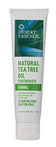 Desert Essence Natural Tea Tree Oil Fennel Toothpaste - 6.25 oz