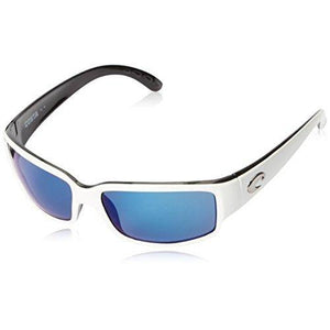 Costa del Mar Unisex-Adult Cabalitto CL 30 OBMP Polarized Iridium Wrap Sunglasses, White/Black, 59.2 mm
