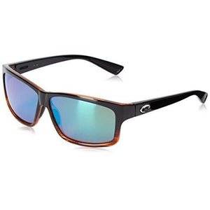 Costa del Mar Cut Polarized Rectangular Sunglasses, Coconut Fade/Blue Mirror 580 Glass
