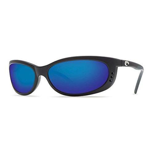 Costa del Mar Unisex-Adult Fathom FA 11 OBMP Polarized Iridium Oval Sunglasses, Matte black, 60.5 mm