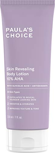 Paula's Choice Skin Revealing Body Lotion 10% AHA, 7 oz bottle with Glycolic Acid and Antioxidants-for Normal Dry and Aged Skin