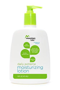Mountain Falls Daily Extreme Moisturizing Lotion for Dry, Sensitive Skin, Fragrance Free, Pump Bottle, Compare to Cetaphil, 16 Fluid Ounce