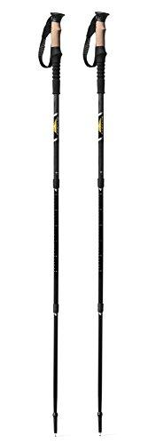 Cascade Mountain Tech Collaspible Carbon Fiber Trekking Poles, Lightweight with Cork Grip, Twist Lock, and Anti-Shock
