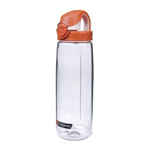 Nalgene Tritan On The Fly Water Bottle, Clear with Orange/White, 24Oz Sport & Recreation Nalgene