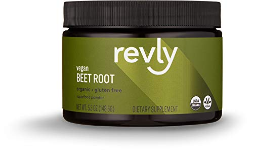 Amazon Brand - Revly Organic Beet Root Powder, 5.3 Ounces, 27 Servings, Vegan