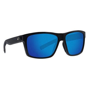 Costa Del Mar - Slack Tide - Shiny Black Frame-Blue Mirror 580 Poly Polarized Lenses