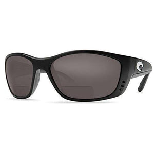 Costa Del Mar Fisch C-Mates Polarized Bi-Focal Reading Glasses in Black & Grey +1.50