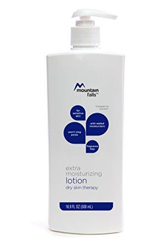 Mountain Falls Extra Moisturizing Lotion Dry Skin Therapy for Sensitive Skin, Fragrance Free, Pump Bottle, Compare to Eucerin, 16.89 Fluid Ounce