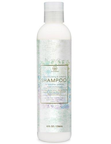 Natural Sulfate Free Moisturizing Shampoo - Extra Nourishing & Hydrating Shampoo for Luxurious Healthier Hair With Argan Oil Kiwi Kukui Moringa Seed & More for Thin Frizzy Dry Hair