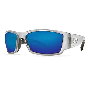 Costa del Mar Unisex-Adult Corbina CB 18 OBMGLP Polarized Iridium Wrap Sunglasses, Silver, 61.2 mm