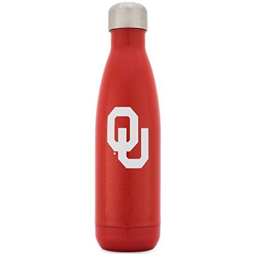 Simple Modern University of Oklahoma 17oz Wave Water Bottle - Vacuum Insulated Stainless Steel Boomer Travel Mug - Sooners OU Tailgating Hydro Cup College Flask - Crimson