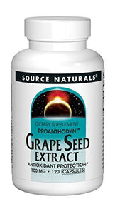 Source Naturals Proanthodyn Grape Seed Extract 100mg Antioxidant Protection - 120 Capsules