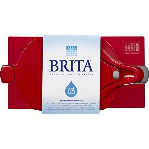Brita Large 10 Cup Grand Water Pitcher with Filter - BPA Free - Red Accessory Brita