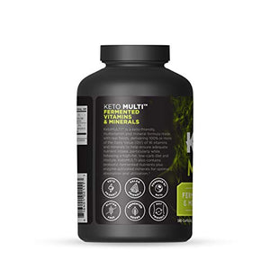 Ancient Nutrition KetoMULTI Vitamin and Mineral Supplement, 180 Capsules — Daily Multivitamin Designed for The Keto Diet