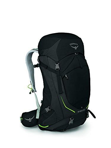 Osprey Packs Stratos 50 Backpack, Black, S/M, Small/Medium