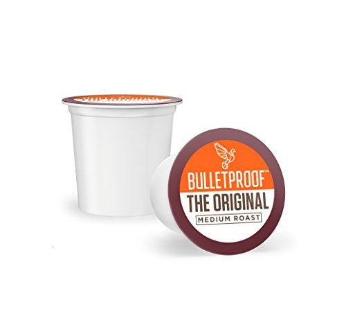 Bulletproof The Original Coffee Pods - Premium Medium Roast Organic Beans, Single-Serve K Cups, Works With Keurig 2.0 (24 Count)