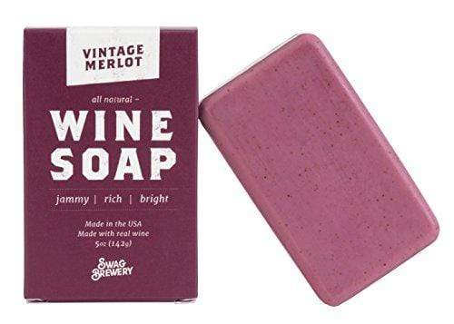 Vintage Merlot WINE SOAP | Great Gift for Women, Birthdays, Wives, Men, and All Wine Lovers | All Natural + Made in USA | Funny Bath and Relaxation Accessories