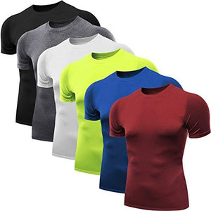 Neleus Men's 3 Pack Athletic Compression Under Base Layer Sport Shirt