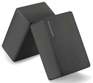 "GoYoga Set of 2 High Density Yoga Blocks, 9""x6""x4"" Each"