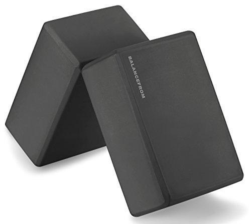 "GoYoga Set of 2 High Density Yoga Blocks, 9""x6""x4"" Each Accessory BalanceFrom"