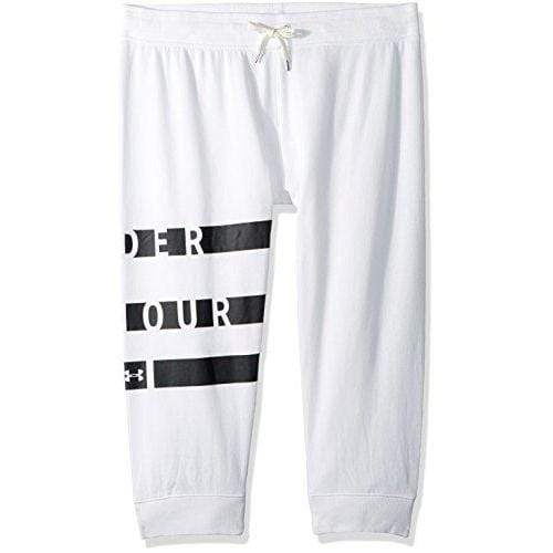 Under Armour Women's Favorite Fleece Graphic Capris, Black/Metallic Silver Small Sport & Recreation Under Armour