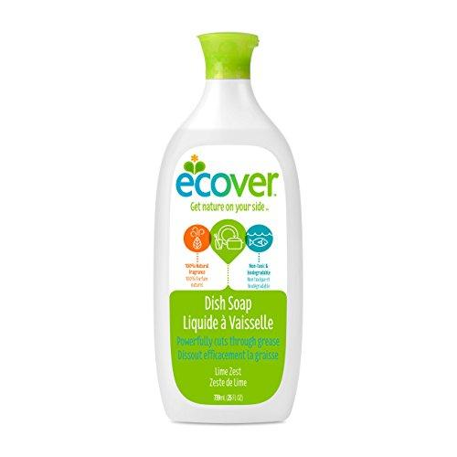 Ecover Dish Soap, Lime Zest, 25 Ounce (Pack 6) Dish Soap Ecover