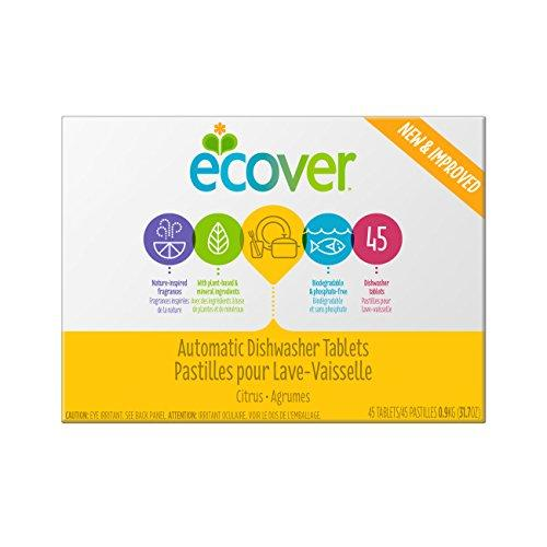 Ecover Automatic Dishwasher Soap Tablets, Citrus, 45 Count Dishwasher Detergent Ecover