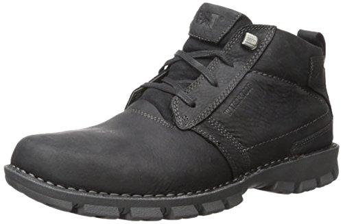 Caterpillar Men's Elston Waterproof Chukka Boot, Black, 9.5 M US