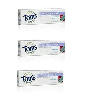 Tom's Of Maine Whole Care Toothpaste Wintermint, 4.7, 3 Pk