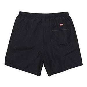 "WUAMBO Men's Solid Swim Short With Pocket #1 Black,US M=Tag XL(Waist 32""-34"")"