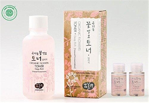 Whamisa Organic Flowers Skin Toner - Deep Rich Essence Toner 120ml + 40ml - Natural fermented | EWG Verified | BDIH Certified | Pure Natural Ingredients & 97.4% Organics - Best Korean Skin Care
