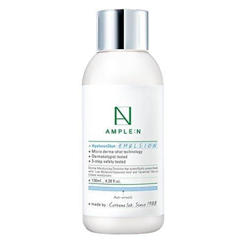 [AMPLE:N] Hyaluron Shot Emulsion 4.39 fl. oz. (130ml) - Long Lasting Hydration Lotion/LOCK moisture for long-lasting glow