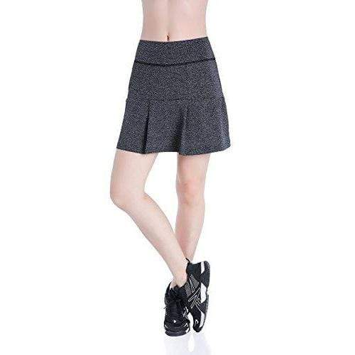 Women's Fitness Movement Short Skirt Lightweight Running Short Skirt (Gray, Medium)