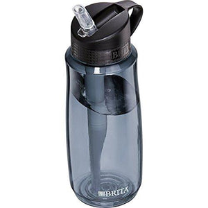 23.7 Ounce Hard Sided Water Bottle with Filter - BPA Free - Gray Accessory Brita