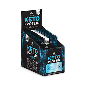 Ancient Nutrition KetoPROTEIN Powder Vanilla, 15 Servings - Keto Diet Supplement, High Quality Low Carb Proteins and Fats from Bone Broth and MCT Oil