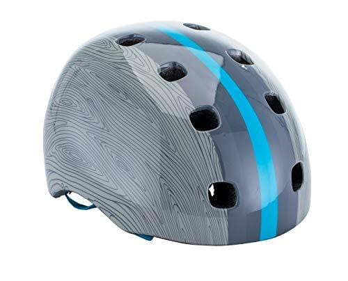 Schwinn Burst Bike Helmet, Adult Helmet, Grey Wood Grain Design