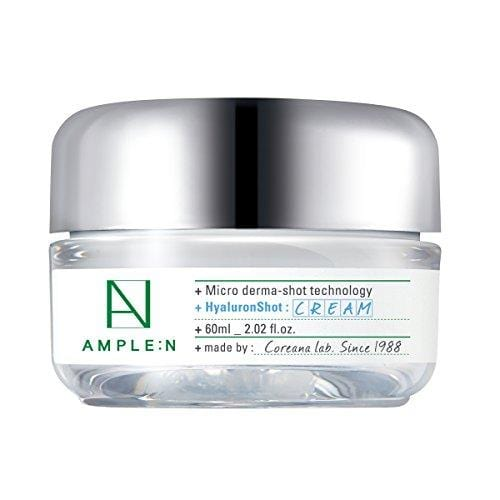 [AMPLE:N] Hyaluron Shot Cream 2.02 fl. oz. (60ml) - Moisturizing & Rich Nourishing Cream, Smooth skin texture, Xylitol Complex, Korean skincare