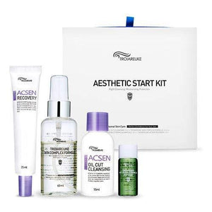 [TROIAREUKE] Aesthetic Start Kit/Acsen Oil Cut Cleansing + Skin Complex Formula + Healing Cocktail (Green) + Recovery Cream/Cleansing, Moisturizing, Skin Protection