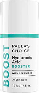Paula's Choice BOOST Hyaluronic Acid Booster with Ceramides, 0.67 Ounce Bottle, Moisturizing Serum