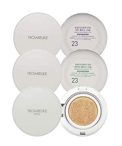 [TROIAREUKE] H+ (#23), A+ (#23), Seoul Cushion 3pcs Set/Korean Cushion Foundation Make-up Set for Sensitive, Acne, Oily, Dry, Anti-Aging
