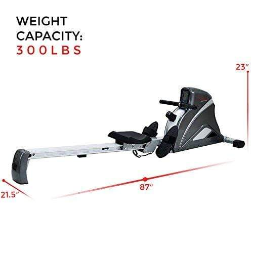 Sunny Health & Fitness SF-RW5508 Ultra Tension Magnetic Pro Rowing Machine Rower w/LCD Monitor Sport & Recreation Sunny Health & Fitness