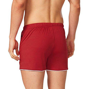 Baleaf Men's Bodybuilding Shorts Gym Zipper Pockets Dark Red Size S