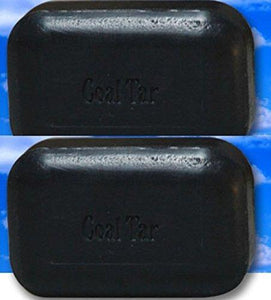 Soap Works Coal Tar Bar Soap (Black) (110g/bar) 2 bars