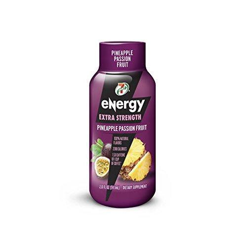7-Select Extra Strength Energy Shot, Pineapple Passion Fruit, 2-Ounce Bottles (Pack of 12) Food & Drink 7-Eleven