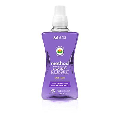 Method Concentrated Laundry Detergent, Lavender + Cypress Scent, 66 Loads, 53.5 Ounce